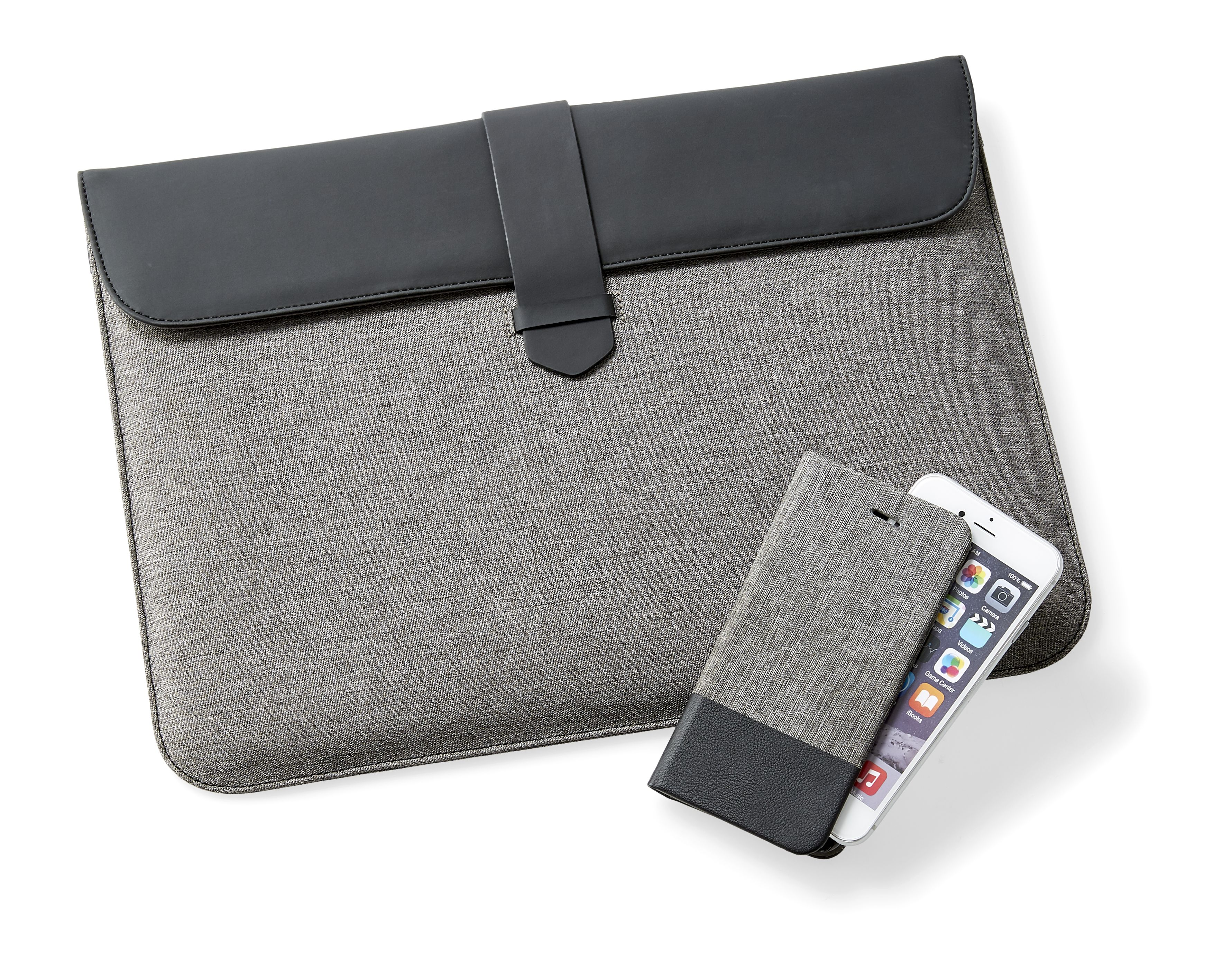 Kmart 13in Laptop Case, RRP$10, Kmart iPhone 6 Flip Case, RRP$7