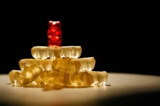 53823262 - pyramid of jelly bears