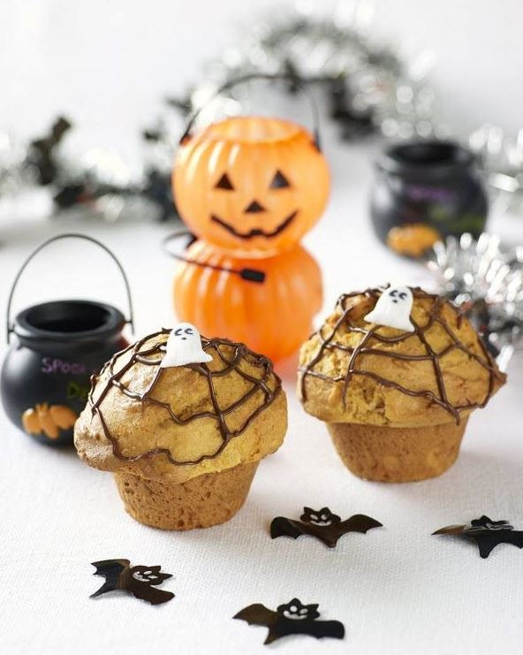 Spooky Spider Web Muffin