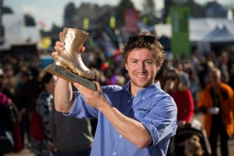 during the Rural Bachelor of the Year awards presentation, on day 4, of the 49th Fieldays at Mystery Creek Events Centre, Hamilton, New Zealand, Saturday 17 June 2017. Photo: Stephen Barker/Barker Photography. ©NZ National Fieldays Society Inc