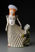 "Sergei Isupov, ""Touch-Me-Not"" 2015, porcelain, slip, glaze, 17.5 x 11 x 8""."