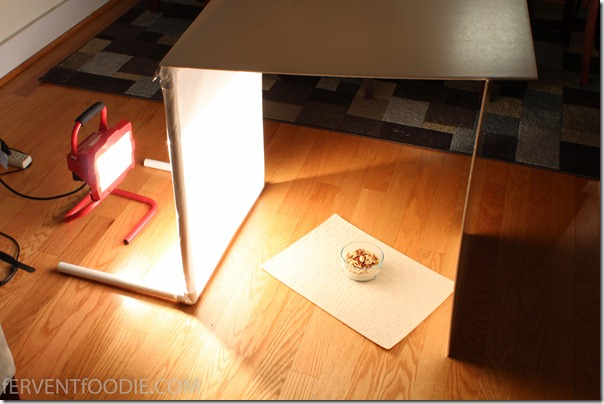 DIY Photography Light Diffuser via Fervent Foodie