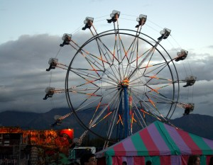 alaska carnival ferris wheel at the Alaskan State Fair