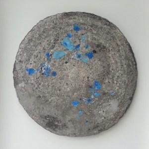 NOUVELLES du MONDE n°19 - Acrylique sur papier maché (Ø 83cm) (2015)