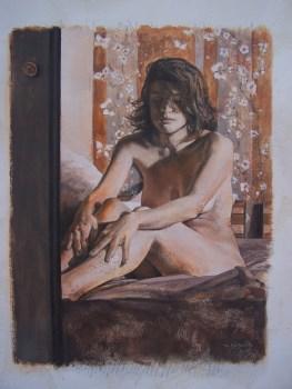 Goguilly Didier-Illusion 2 - huile sur carton 40 x 50cm