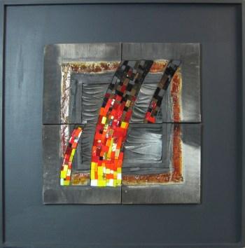 MASCULIN - Raku et mosaïque (65*65cm) (2014)