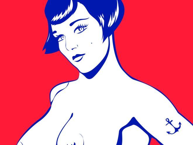 """MOUSSE 04 """"Les gardes-côtes"""" - Acrylique (81x116cm) 2016"""