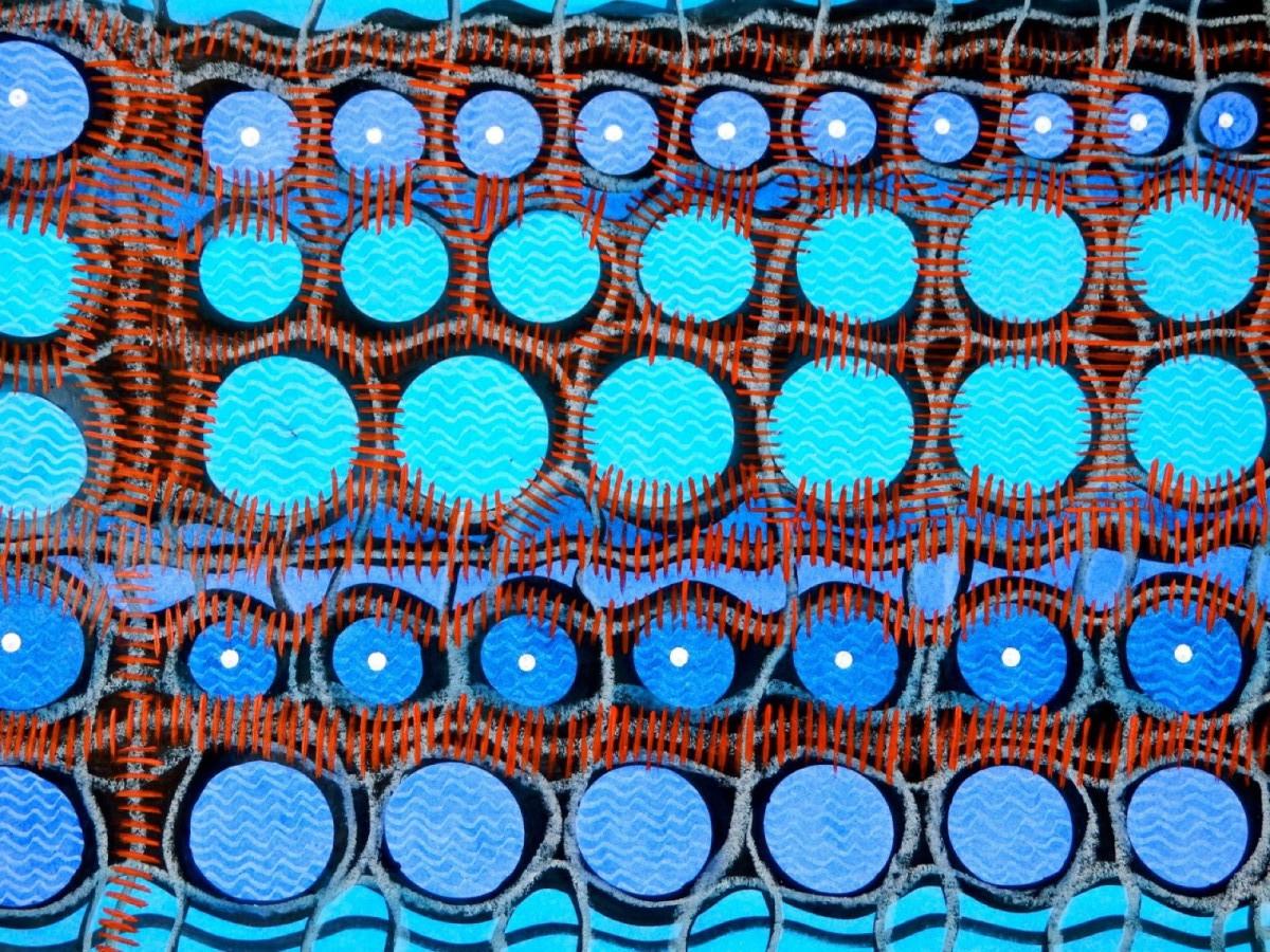EAUX VIVES - Acrylique, craie, huile (21*30) (2016)
