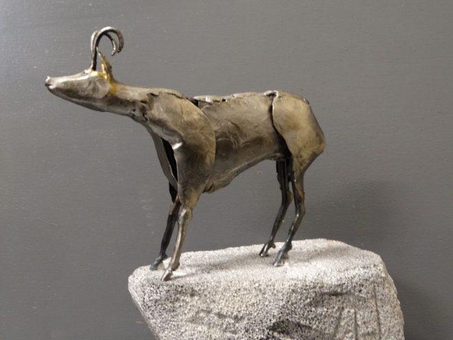 ISARD des CIMES - Sculpture Métal (25*20*15cm)