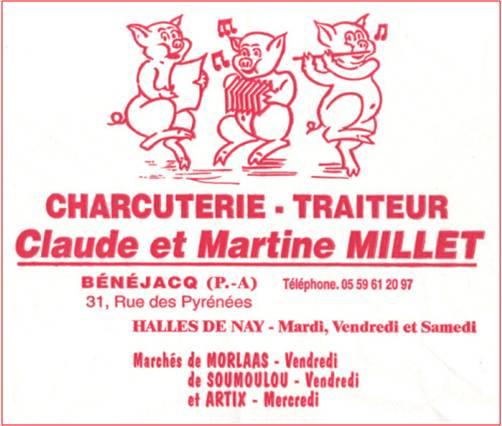MILLET Claude et Martine – Charcutier