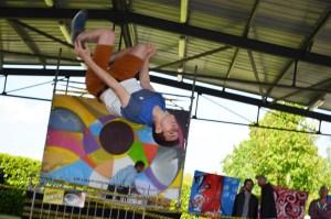 hip-hop avec l'ACN et performance graff avec Nacre-dimanche à Arros-Crédit photo Chemins des Arts 2