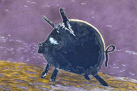 Ben-Nahmias Schlosshauer Ilan-Pig n°3_pastel_60x90 (2014)-web