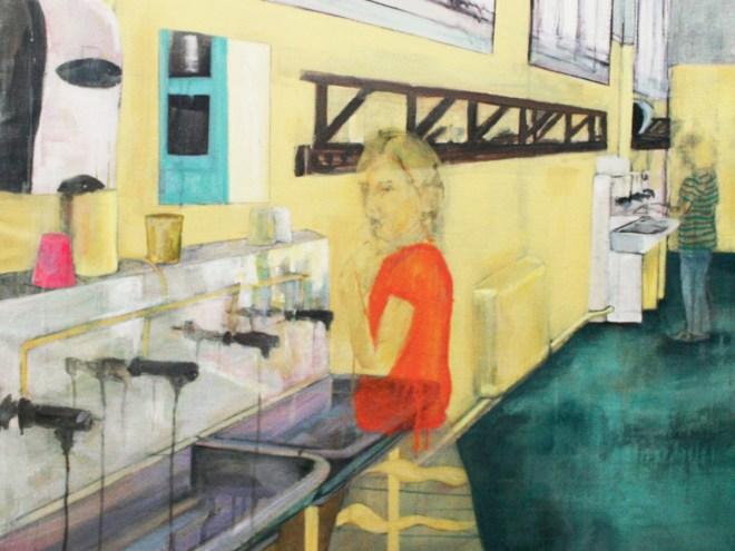 LAVABO - Acrylique sur toile (150*99cm) (2012)