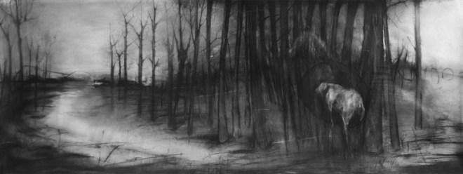 PAYSAGE 2 - Pierre noire sur calque polyester (90*250cm) (2016)-web