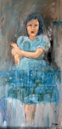 La ROBE BLEUE - Huile sur toile (80*50cm) (2016)