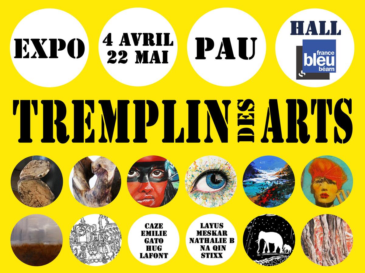 Exposition Tremplin des Arts jusqu'au 22 mai dans les locaux de France Bleu Béarn