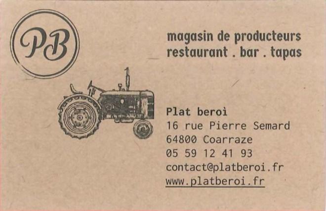 Plat Beroì - Magasin de producteurs