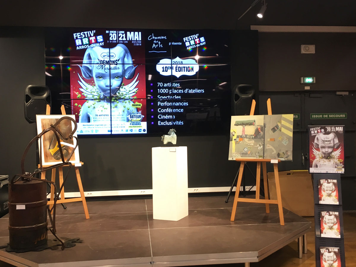 Podium Festiv'Arts au magasin Cultura de Lescar