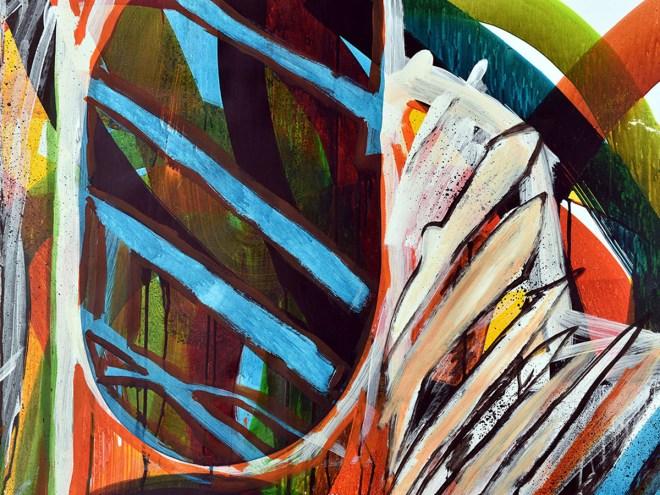 ÉPAVE 2 - Encres, acryliques sur papier (70x100cm) 2015