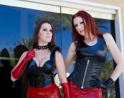 red-latex-skirt-and-black-latex-halter-tops-from-fetisso-rubber-clothing