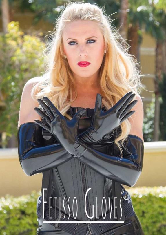 Fetisso fine opera-length latex gloves