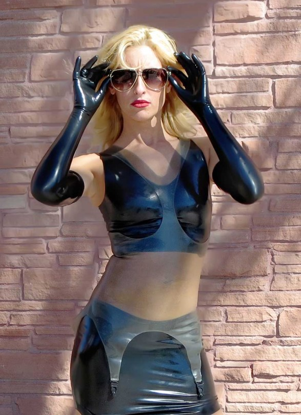 Fetisso fine opera-length latex gloves