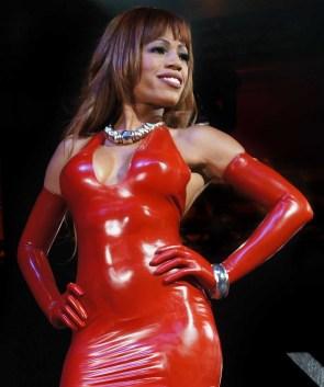Fetisso fine opera-length red latex gloves