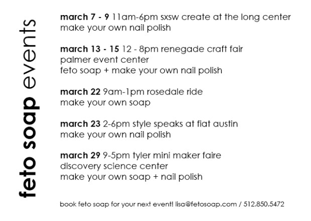 feto soap march 2014 events