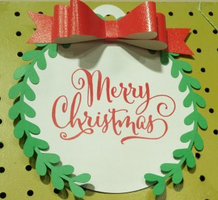 This was a gift tag that I blew up to 12x12""