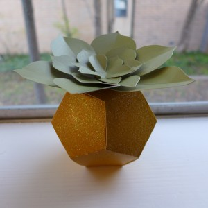 Paper succulent in a geometric planter. Both designs are from the Silhouette Design Store.