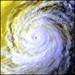 taifu19 【画像】台風を上空から見たら想像以上にビビる件!台風の驚異!台風の目