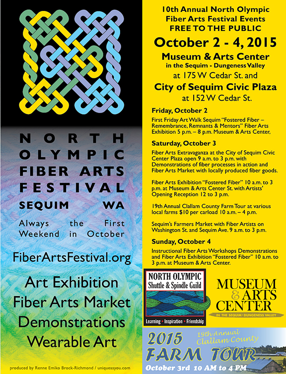 2015 North Olympic Fiber Arts Festival Poster