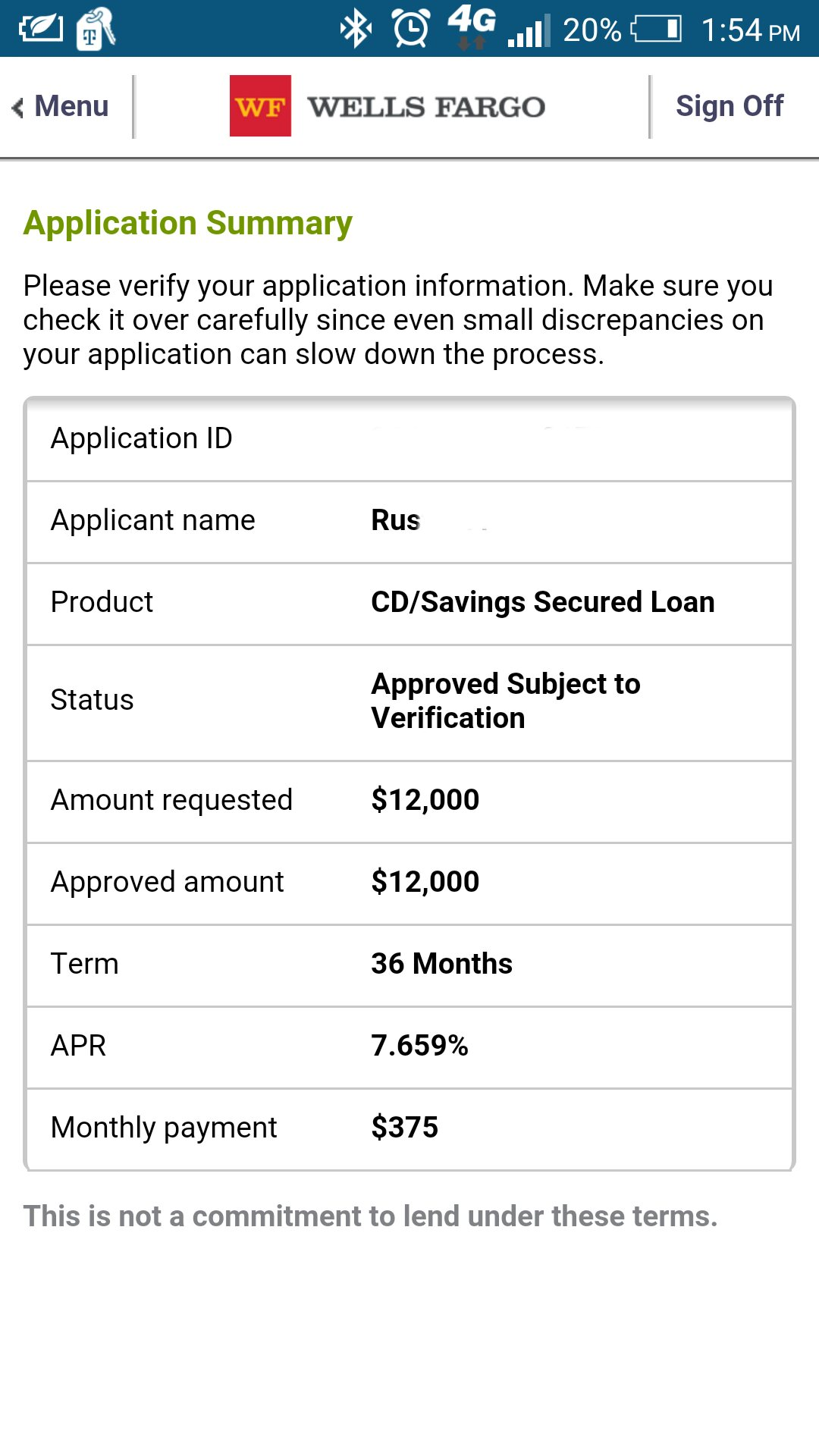 wells fargo secured cd personal loan - myFICO® Forums - 4534354