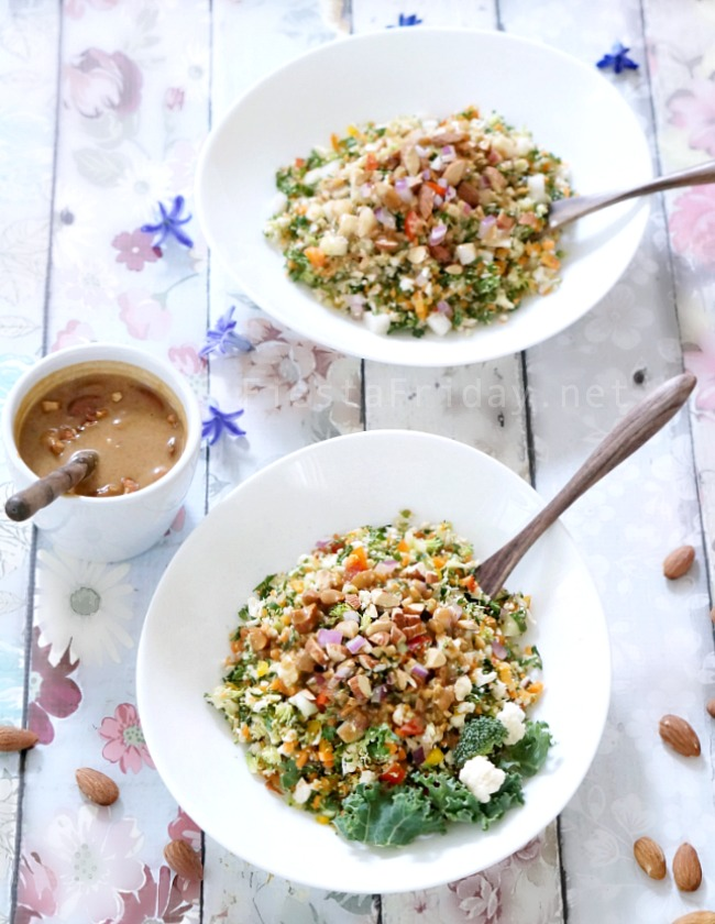 Detox Diet (really???) Salad with Almond Butter Dressing