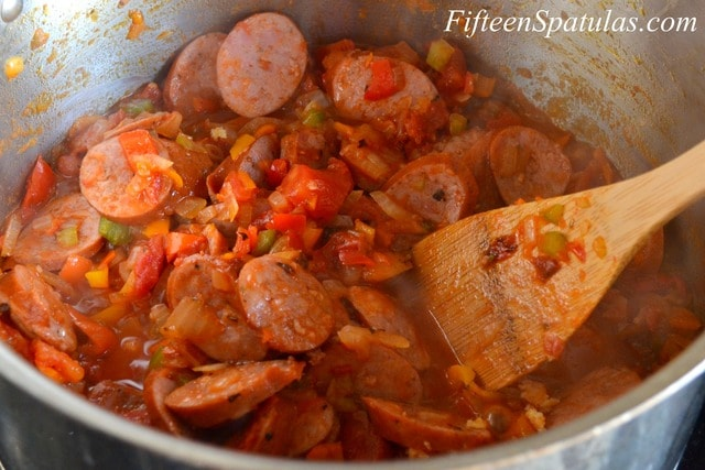 Shrimp and Andouille Sausage Jambalaya » Fifteen Spatulas
