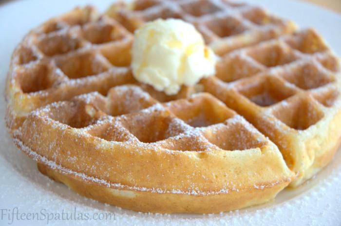 Super crispy Belgian waffle