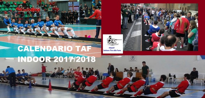 TAF INDOOR STAGIONE 2107-2018 CALENDARIO E CLASSIFICHE
