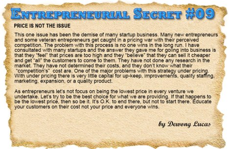 Entrepreneurial Secret #09