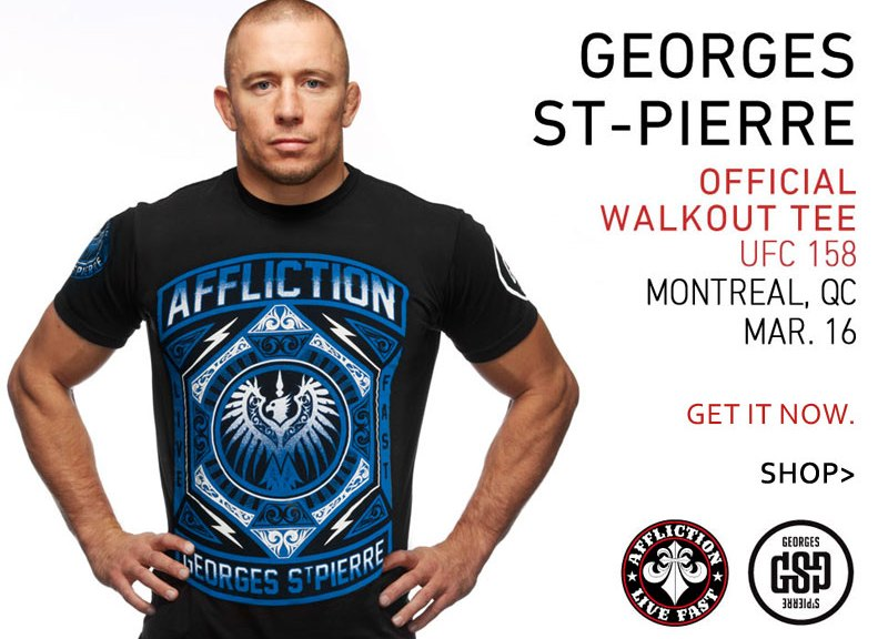 Georges St-Pierre UFC 158 Walkout Shirt