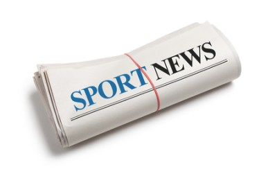 23359911 - sport news, newspaper roll with white background