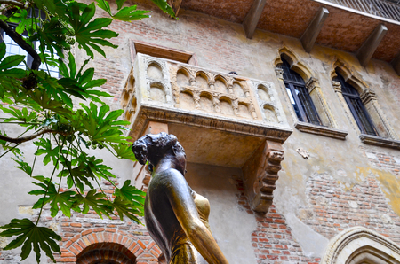 77316699 - romeo and juliet balcony in verona, italy