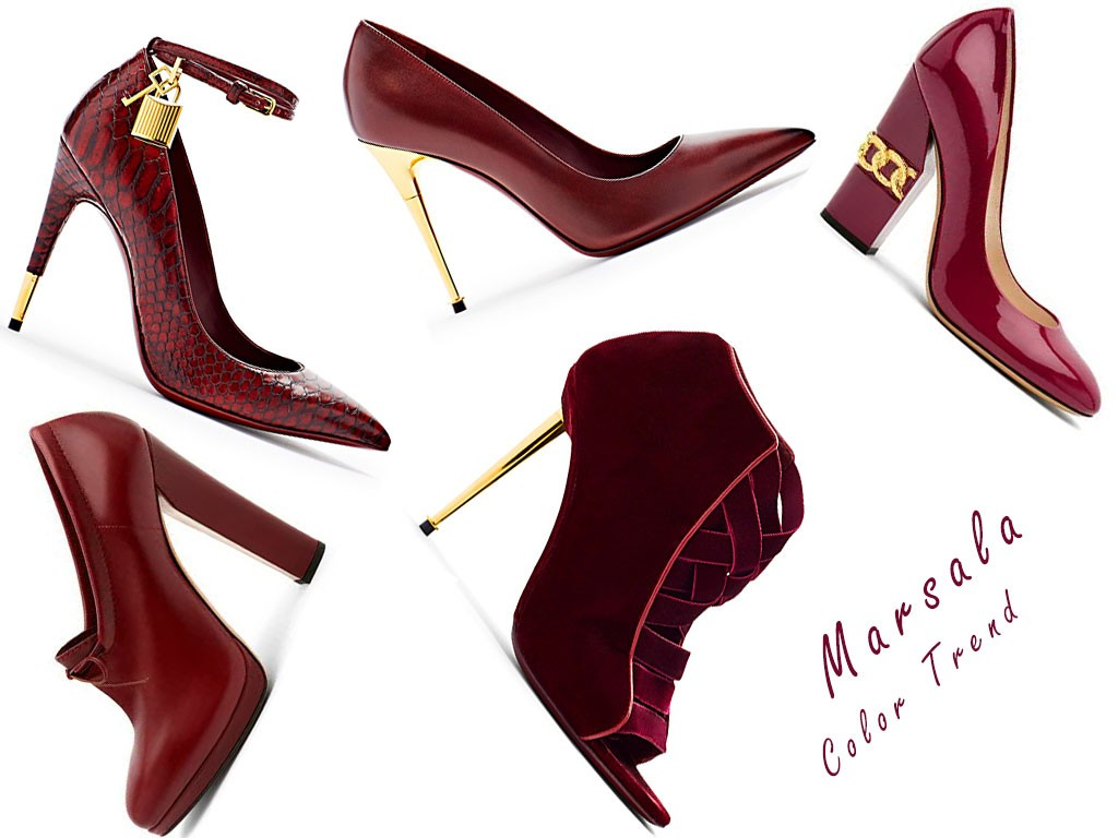 Marsala-shoes