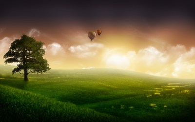 Nature Balloon Ride Wallpapers in jpg format for free download