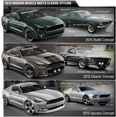 Iacocca, Eleanor & Bullitt 2015 Mustangs – See The Parts Needed to Build One – AmericanMuscle ...