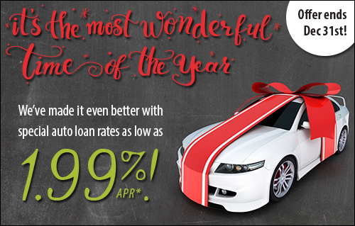 Special Holiday Auto Loan Rates - Offer Ends December 31!