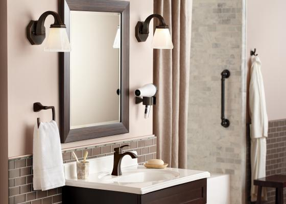 S The Voss Bathroom Collection By Moen Is A Line Of Faucets Accessories And  Shower Products That Blend Traditional Modern Styling Into One Collection
