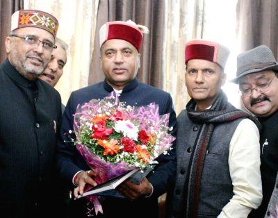 Ram Swaroop Sharma with Jai Ram Thakur