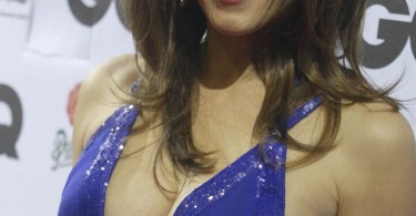 Elizabeth Hurley, blue dress, GQ Magazine party