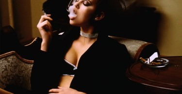 Charlize Theron smoking