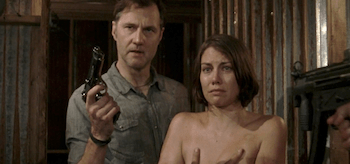 David Morrissey Lauren Cohan The Walking Dead When the Dead Come Knocking